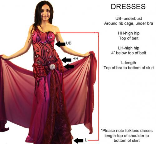 Belly Dance Costumes | Belly Dance Store.com: find your measurements